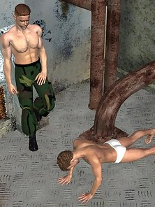 Look This 3D Army Officer Fucked Each Other Tight Asshole in Naughty Act
