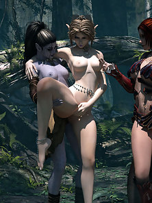 Slim Hot Sexy Anime Chick Horny Sex Action in Forest