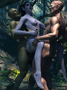 Two Orcs Fucking Hard in Different Action By Elves