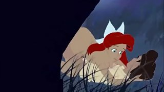 Ariel is seducing her way in to some sex in this parody