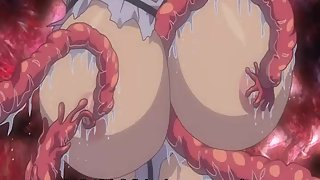 Monsters tentacles wrap up these beautiful knockers and squeeze them