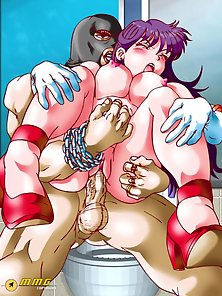 Busty Anime Is Drilled In Her Tight Slit by a Gigantic Meaty Cock