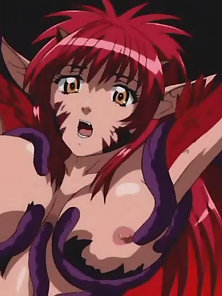 Red Headed Hentai Gal Fucked By Tentacles and Dickgirl