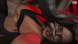 Regenarator dominates Claire's pussy with his dirty monster dick