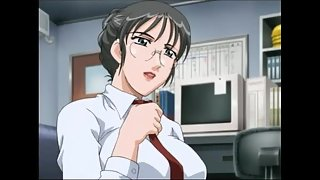 Student gets fucked by the busty hentai teacher in her office