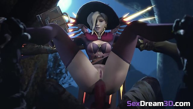 Overwatch Mercy deep ass fucked - music video compilation