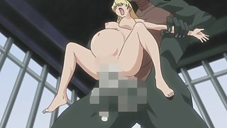 Busty hentai blonde gets her pussy ripped open by big monster cock - spanish