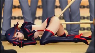 Kill la Kill 3d fucking - Ryuko gets fucked in all holes