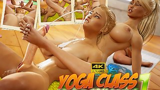 Big tits futa beauties having yoga tantric sex in 4k