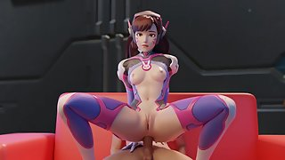 3D babes of Overwatch get ass fucked in sexy compilation