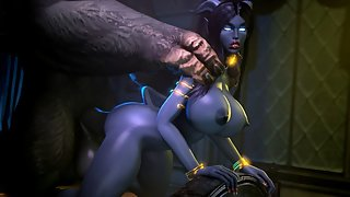 Draenei Xsara gets fucked by a big Tauren dick