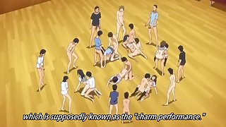 Teen schoolgirls in the drama club have an anime orgy in the gym