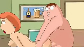 Peter and Lois Griffin from Family Guy have a dirty fuck at the office