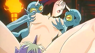 Babe Group Sex Action with Monsters