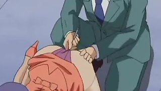 Sexy hentai secretary is forced to xerox her pussy and asshole