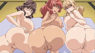 Big assed blonde, brunette, and redhead anime girls all need your cock simultaneously