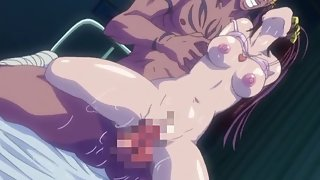 Dirty anime housewife has cock thrust deep inside her