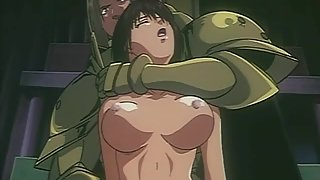 Hot babe is taken prisoner by cartoon knight and spreads her ass in front of everyone