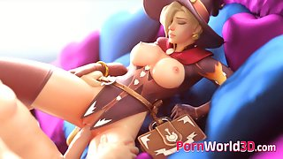 Overwatch Mercy Gets Pussy Pounded by Dirty 3d cock fuck