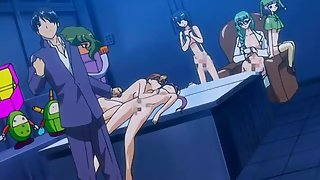 Anime sports girl lose at target shooting and have to have an orgy