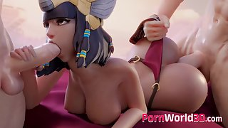 Heroes from Overwatch Fuck in 3D Sex Threesomes - compilation