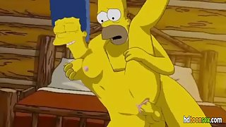 Cartoon XXX Scene with Homer Fucking Marge from The Simpsons Movie