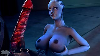 Mass effect girl loves the cock of a huge dicked monster